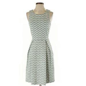 Grey and white chevron dress